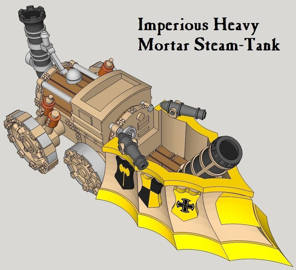 10mm Imperious Heavy Mortar Steam-Tank