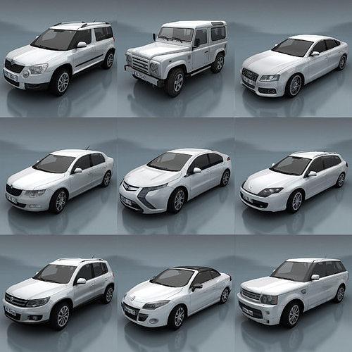 10 - city cars models e 3d model low-poly max fbx 1