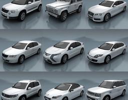 10 - City cars models E 3D Model