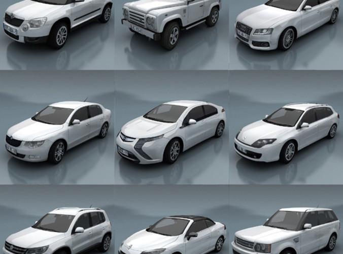 City Cars Models E 3D Model Game Ready .max