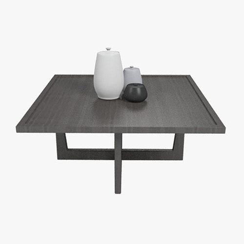 giorgetti coffee cocktail square table 3d model max obj mtl 3ds fbx 1