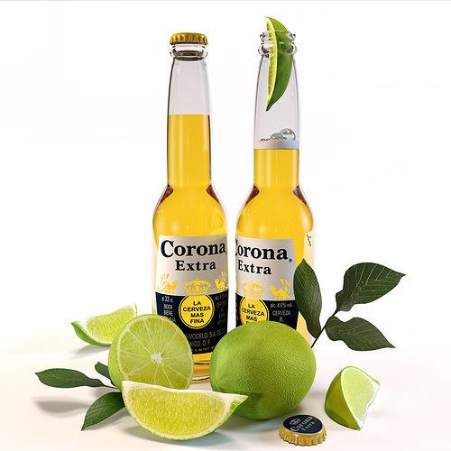 3d Model Corona Extra Beer Cgtrader