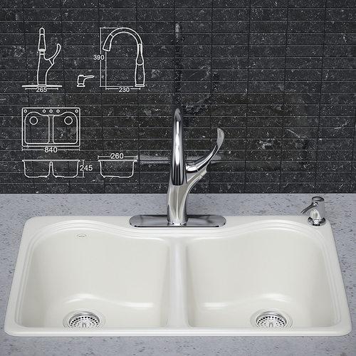 Kitchen Sink Model: Kitchen Faucet And Sink KOHLER 3D