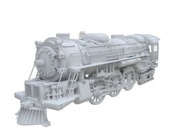 train engine 3d model 3ds