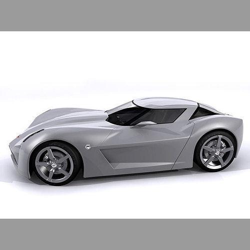 Chevrolet Corvette C7 Stingray Concept 3d Cgtrader