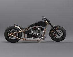 3D model custom chopper standing version