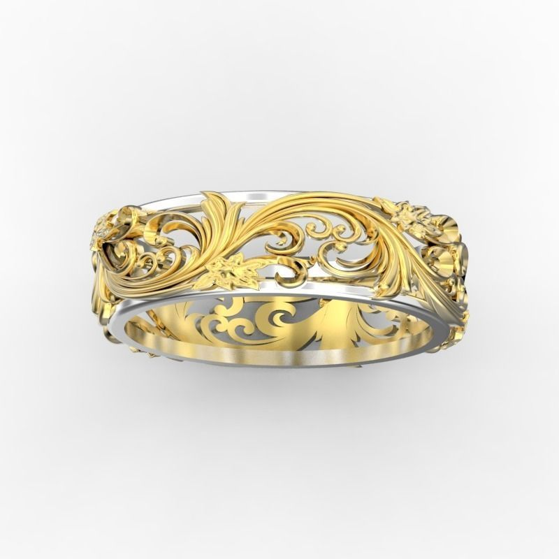 Ring with floral ornament 3