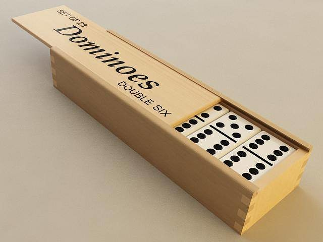 dominoes 3d model max obj mtl 3ds stl wrl wrz 1