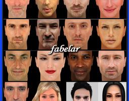 3D faces vol 2 3D Model