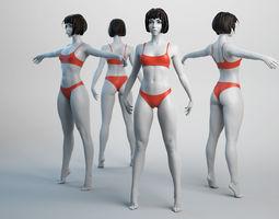 3D asset realtime Female Basemesh 02