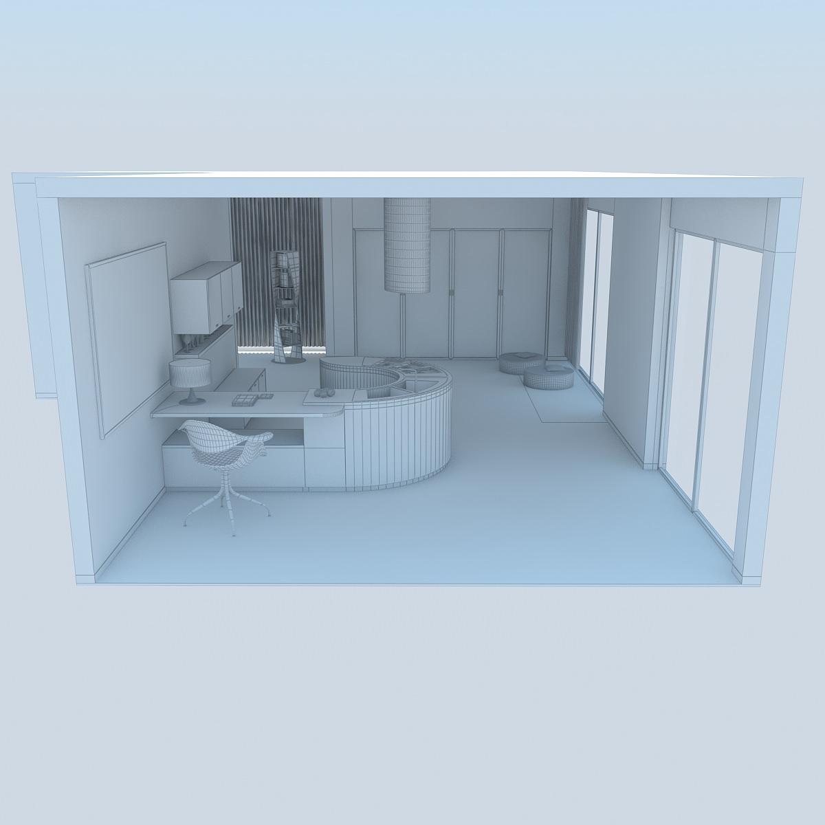 3D Kitchen Modern 2 MAX 2011   CGTrader