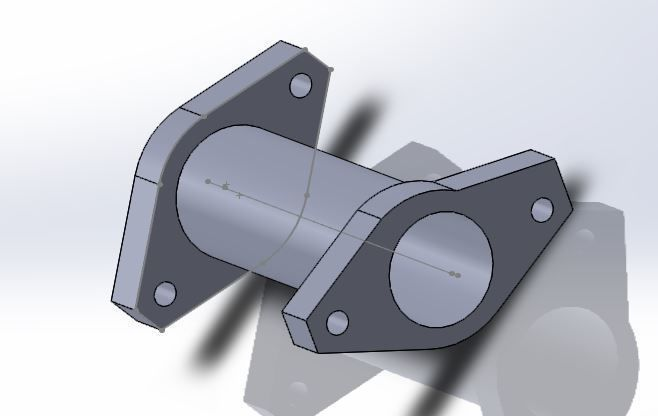 Pipe with 45 degree flanges