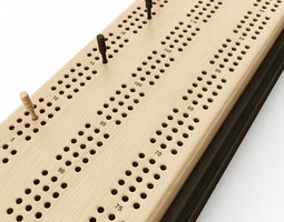Cribbage Card Game Board 3D