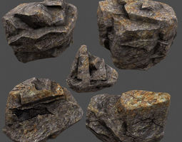rocks 09 realtime 3d asset