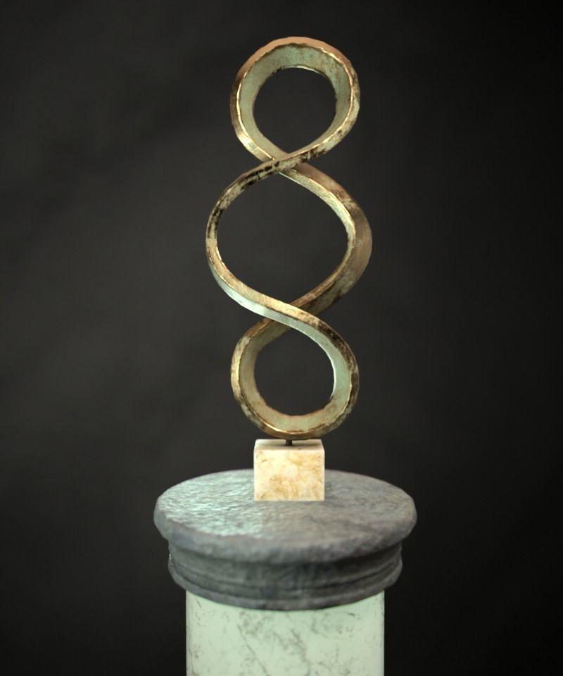 Bronze Sculpture on Pillar