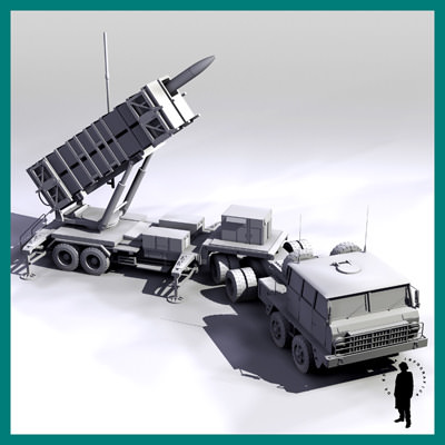 PATRIOT RADAR MISSILE T... 3D Model .max