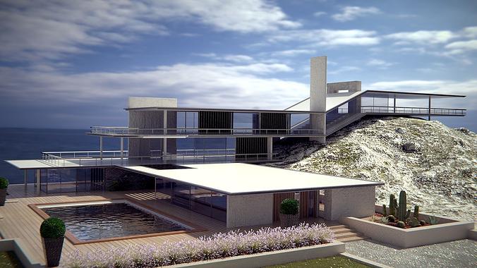 Modern Style Original Sea House 3d Cgtrader