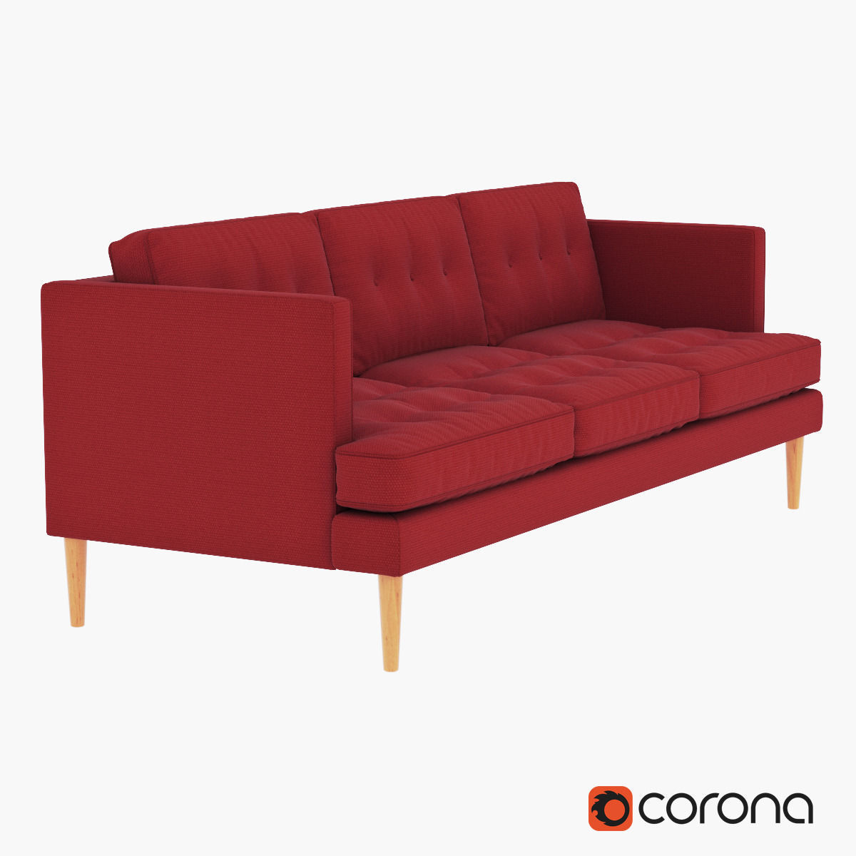 west elm peggy midcentury sofa 3d model max obj fbx mtl 1