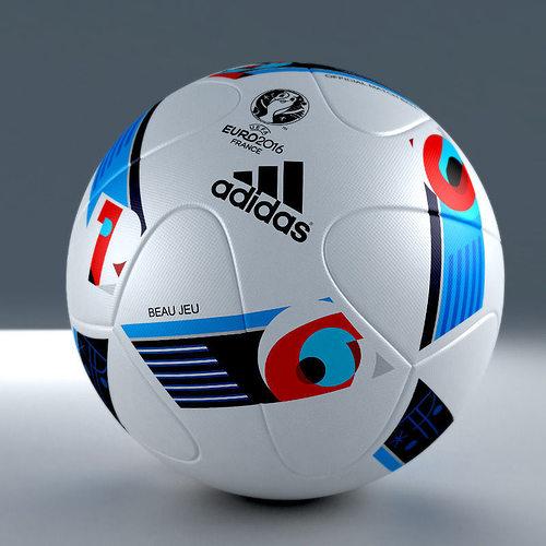 3d model of official adidas beau jeu euro 2016 match ball 3d model max obj 3ds mtl 1