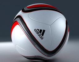 3d model official adidas beau jeu euro 2016 qualification ball