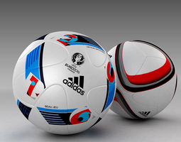 3d model set of official adidas beau jeu and qualification balls 3d model max obj 3ds