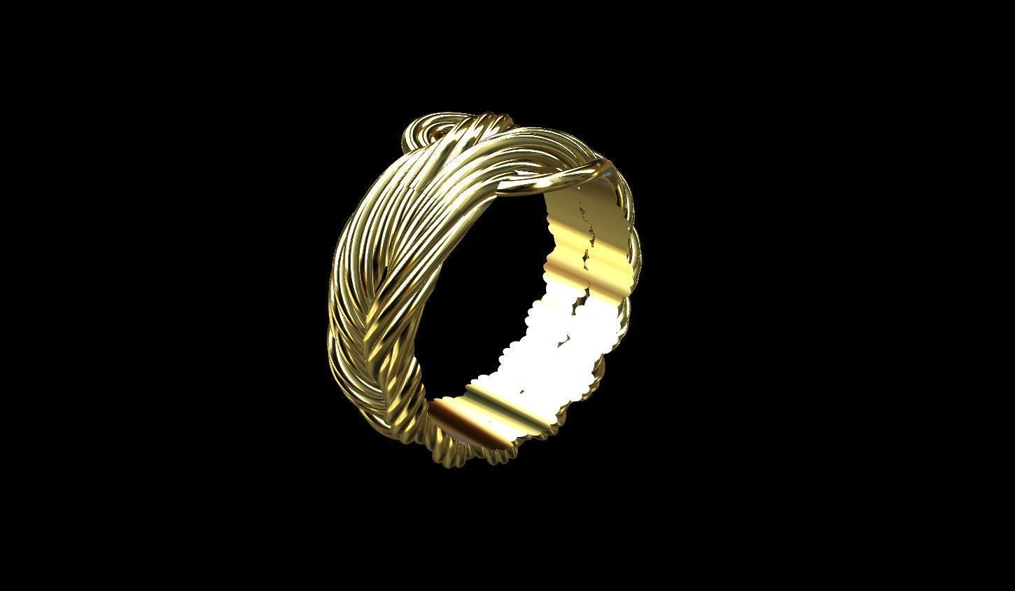 Elven Twisted Ring 3d Model 3d Printable Obj 3ds Stl