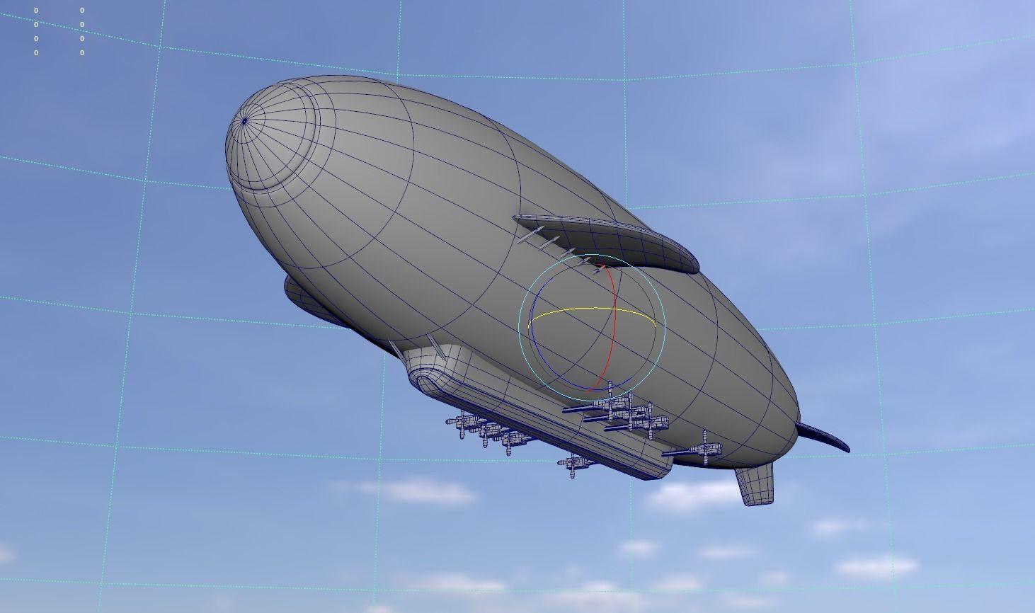 Low Poly Airship