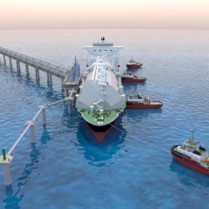 Berthing of the Tanker Ship