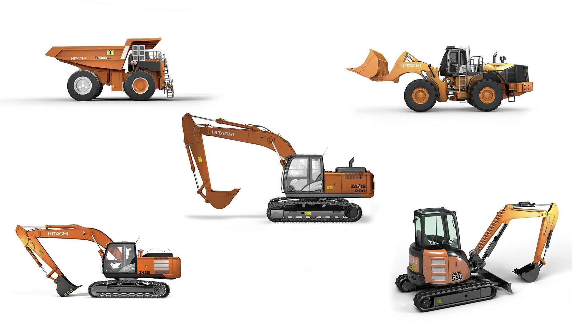 Hitachi Construction Machinery Collection - All Models Rigged