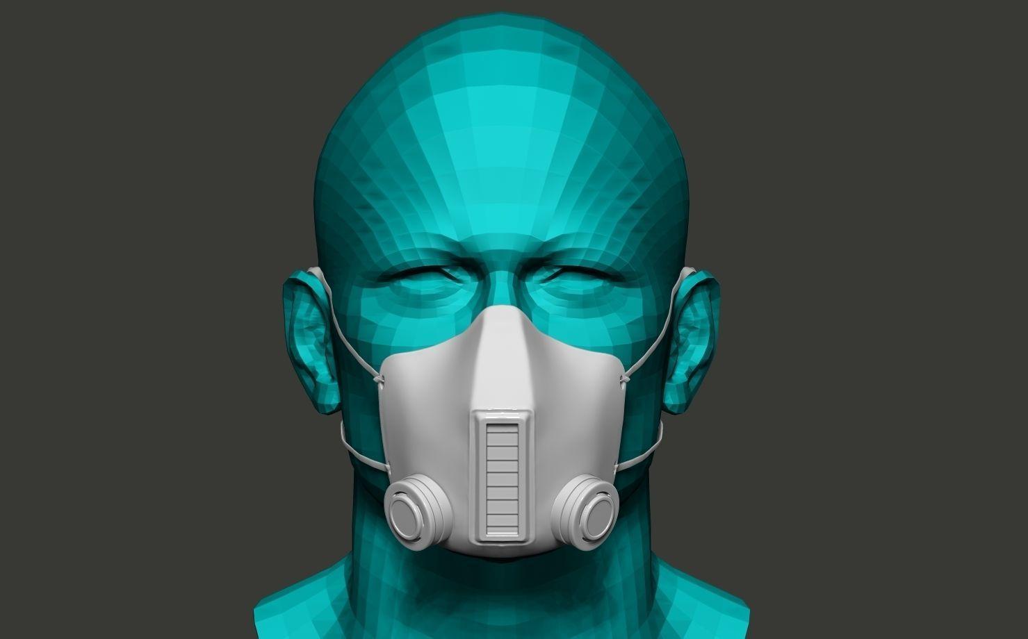 Scorpion Face mask 3D model 3D printable OBJ STL BLEND ZTL