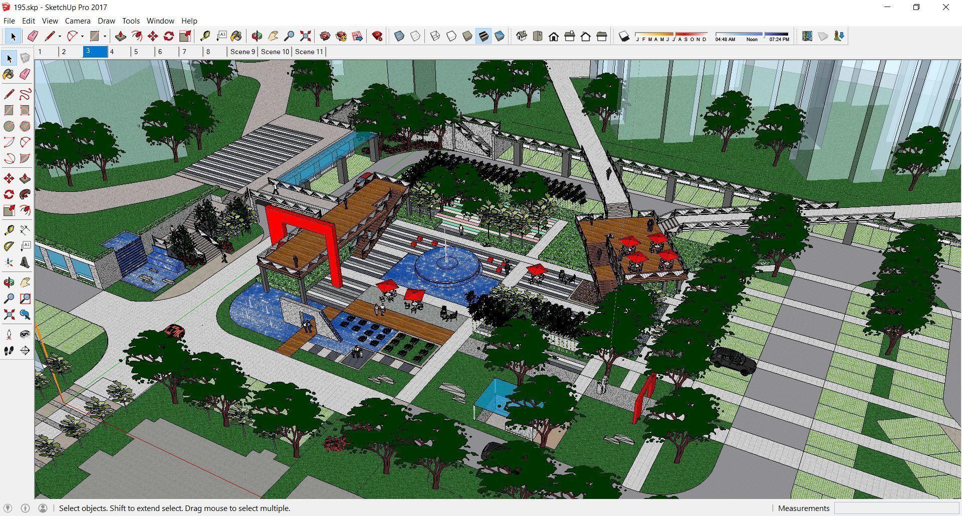 Sketchup 195 - Residential landscape design 3D model