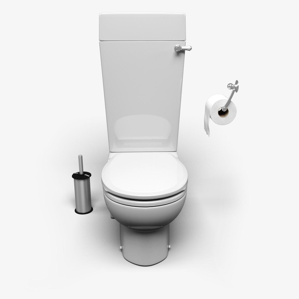 Toilet 3d model max obj fbx - Toilet model ...
