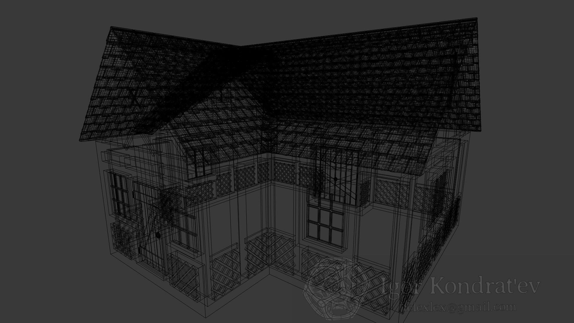 Hunting House 3d Model Obj Blend Dae Mtl 5