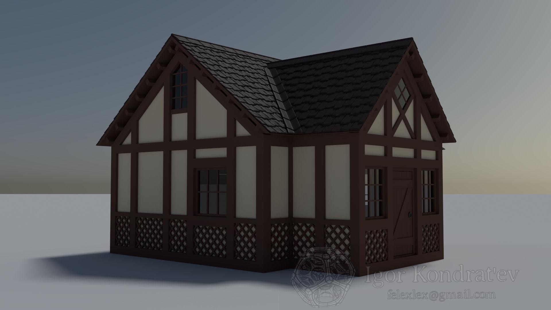Hunting House 3d Model Obj Blend Dae Mtl 2