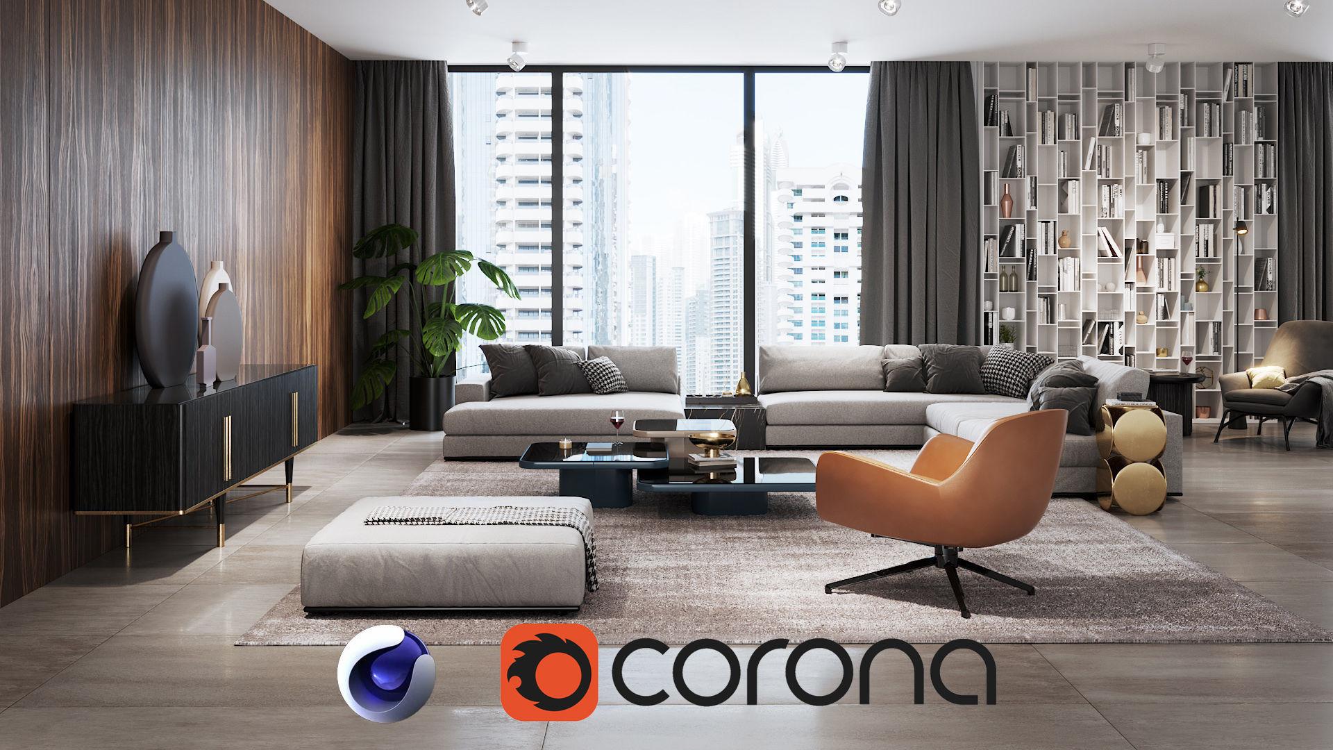 Apartment Scene for Cinema 4D and Corona Renderer