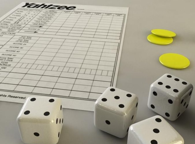 Yahtzee 3D Model .max .3ds