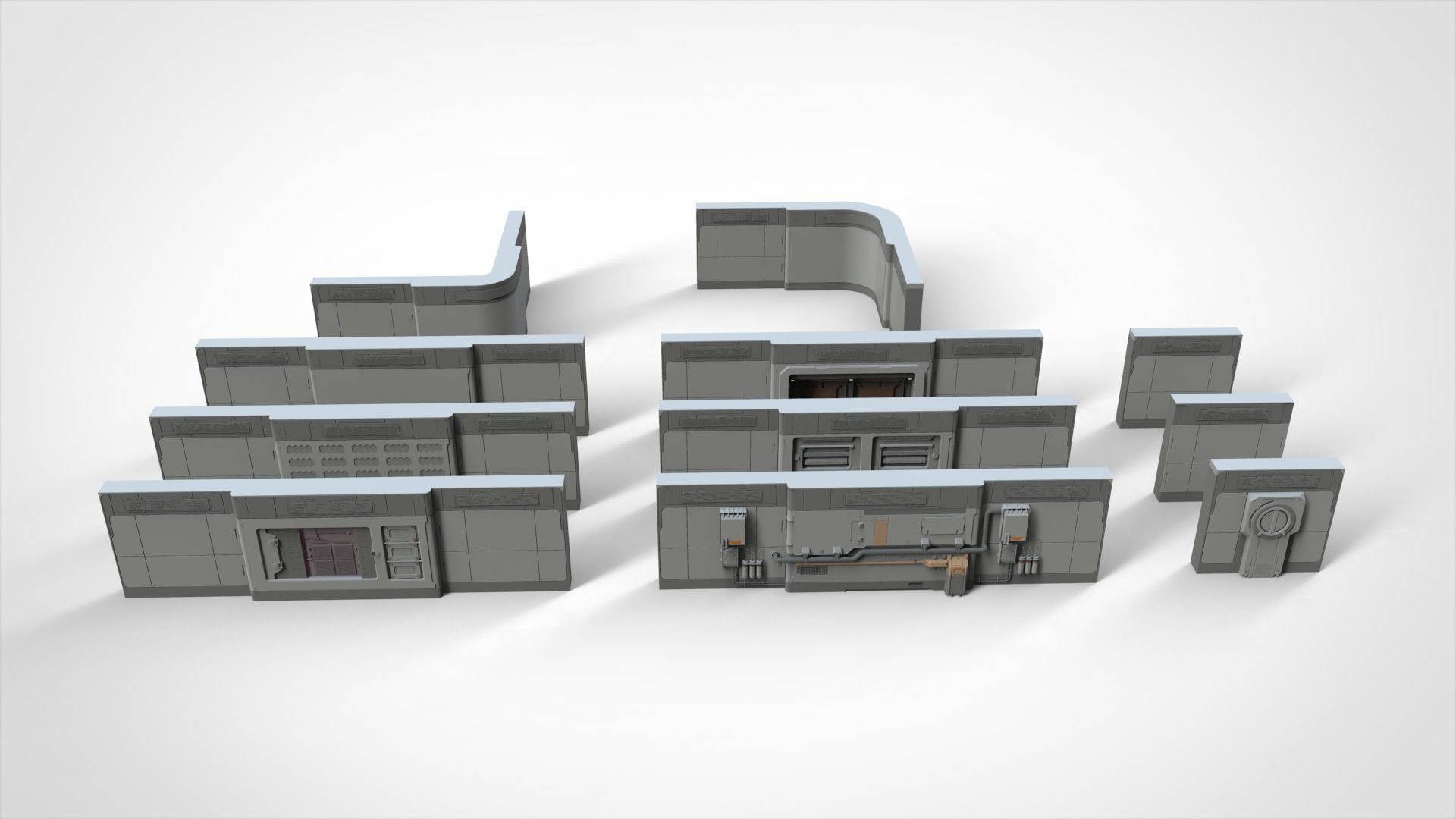 sci-fi Architecture kitbash 15