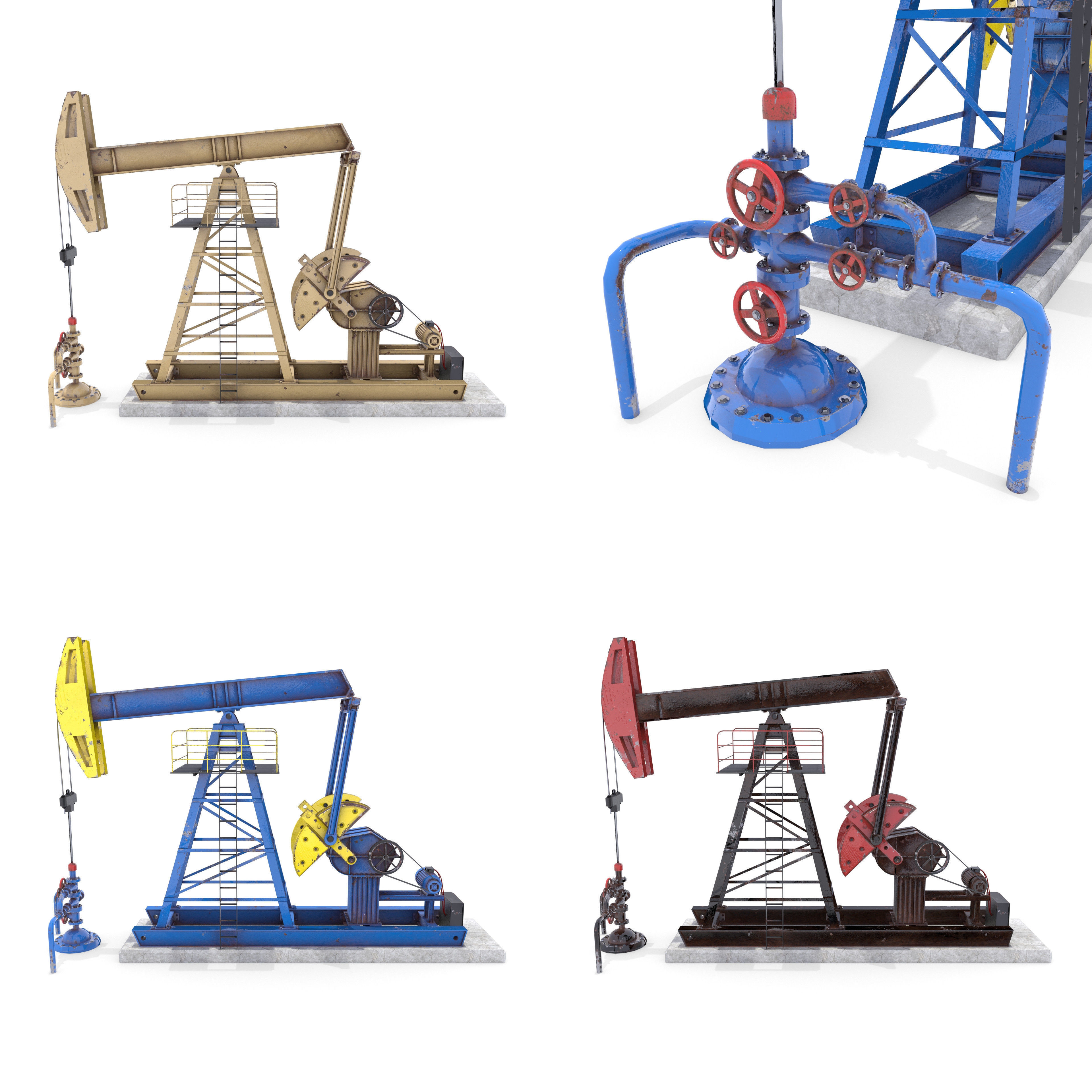 Oil Pumpjack Animated Pack
