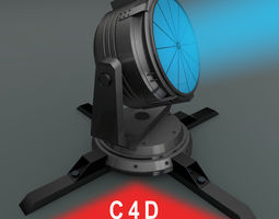 rigged searchlight 3d
