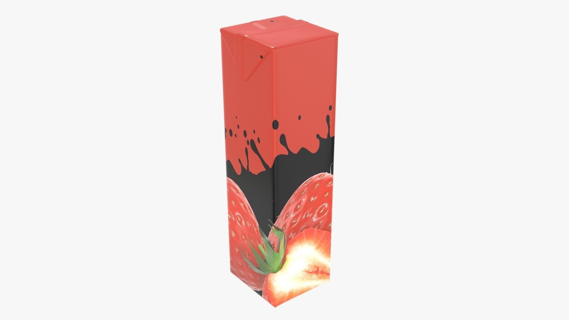 Juice 1000ml cardboard box packaging slim