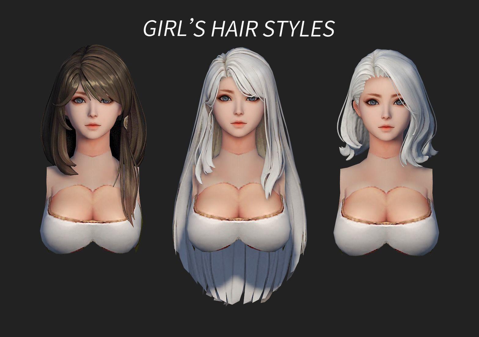 hair style girl short hair cape dye long hair 01