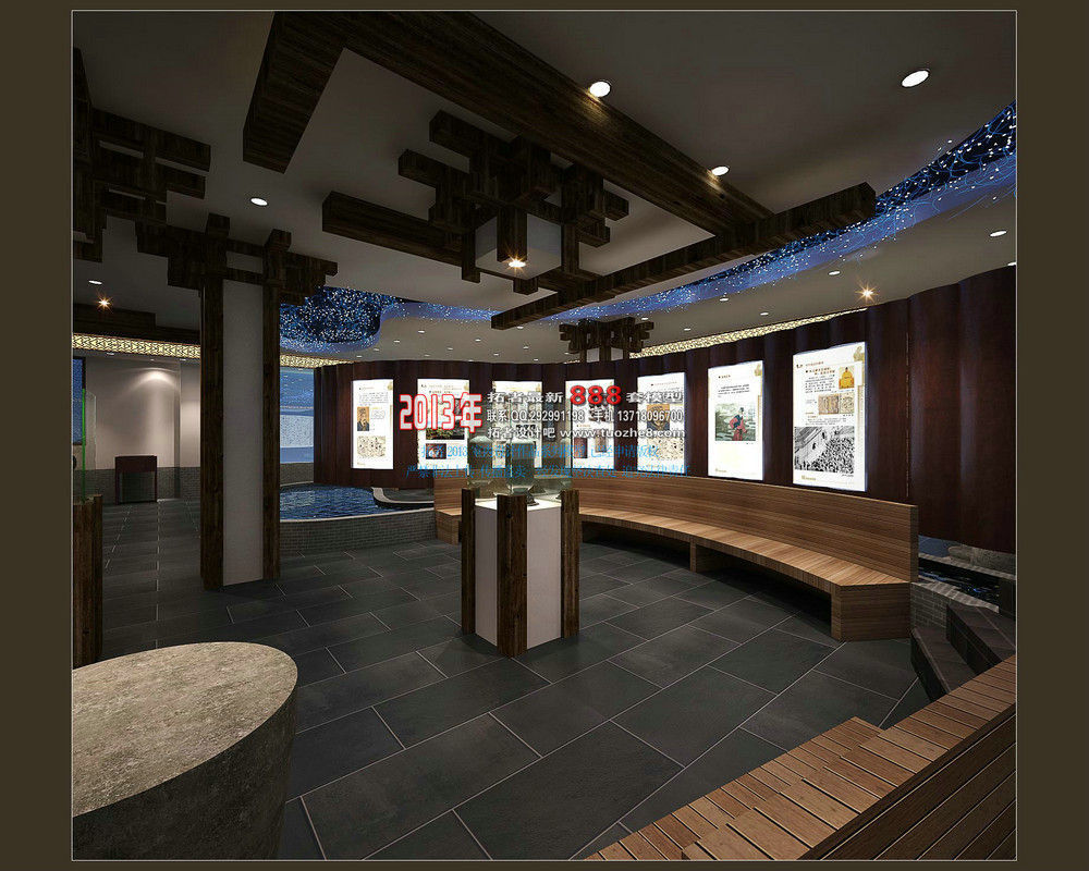 Exhibition Hall D Model : Classic fashion luxury club exhibition hal d model