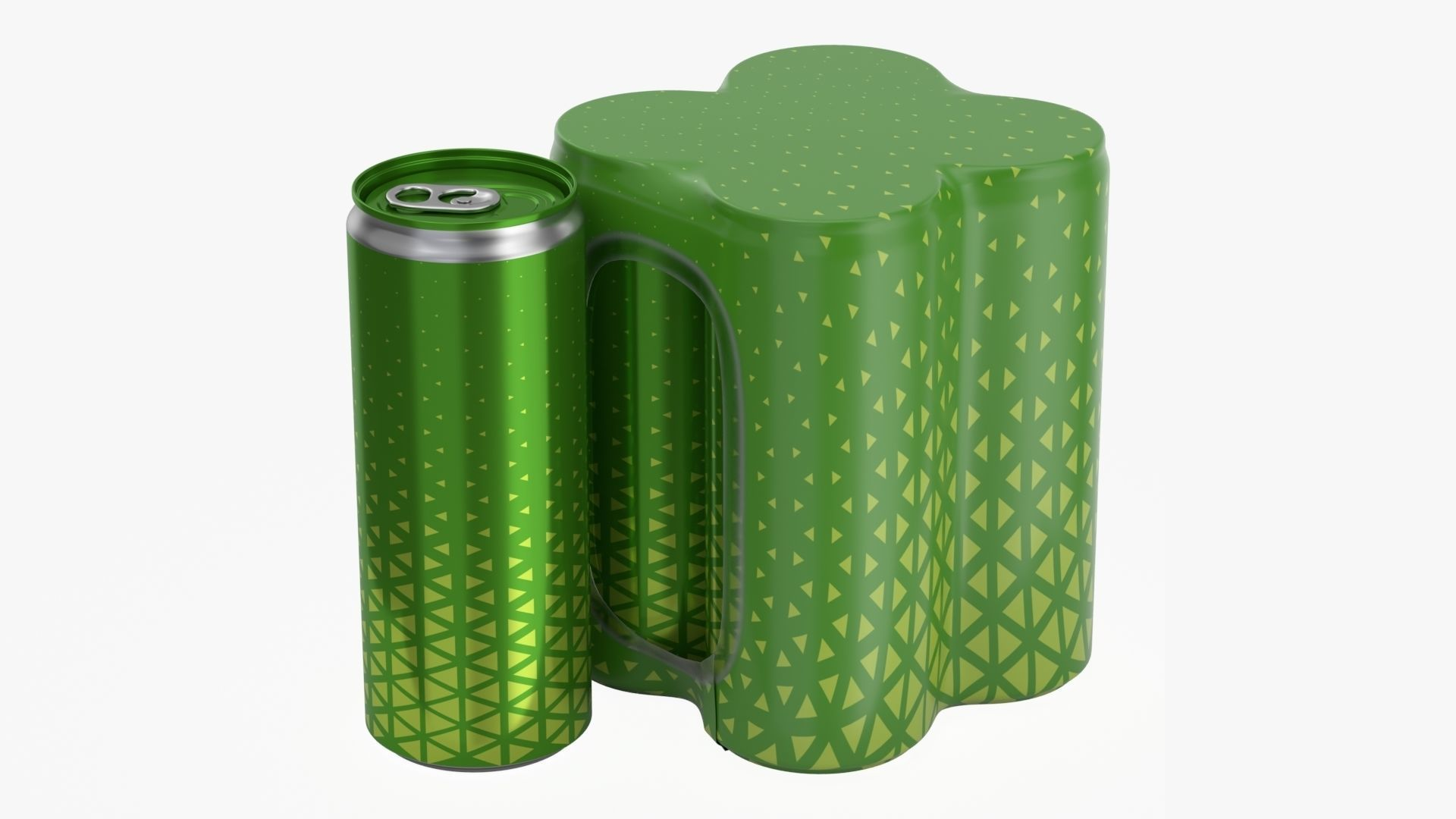 Packaging for four 250ml slim beverage soda cans