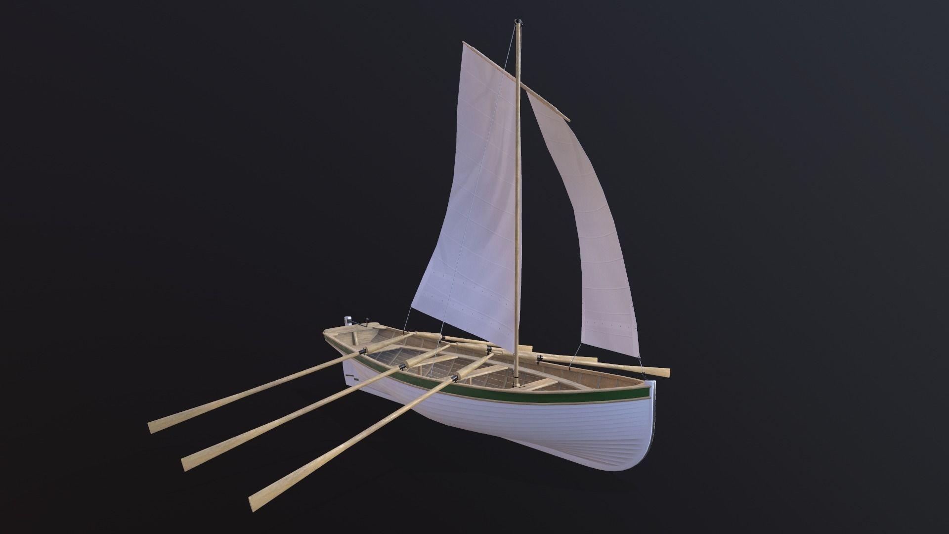 Wooden boat Yal-6