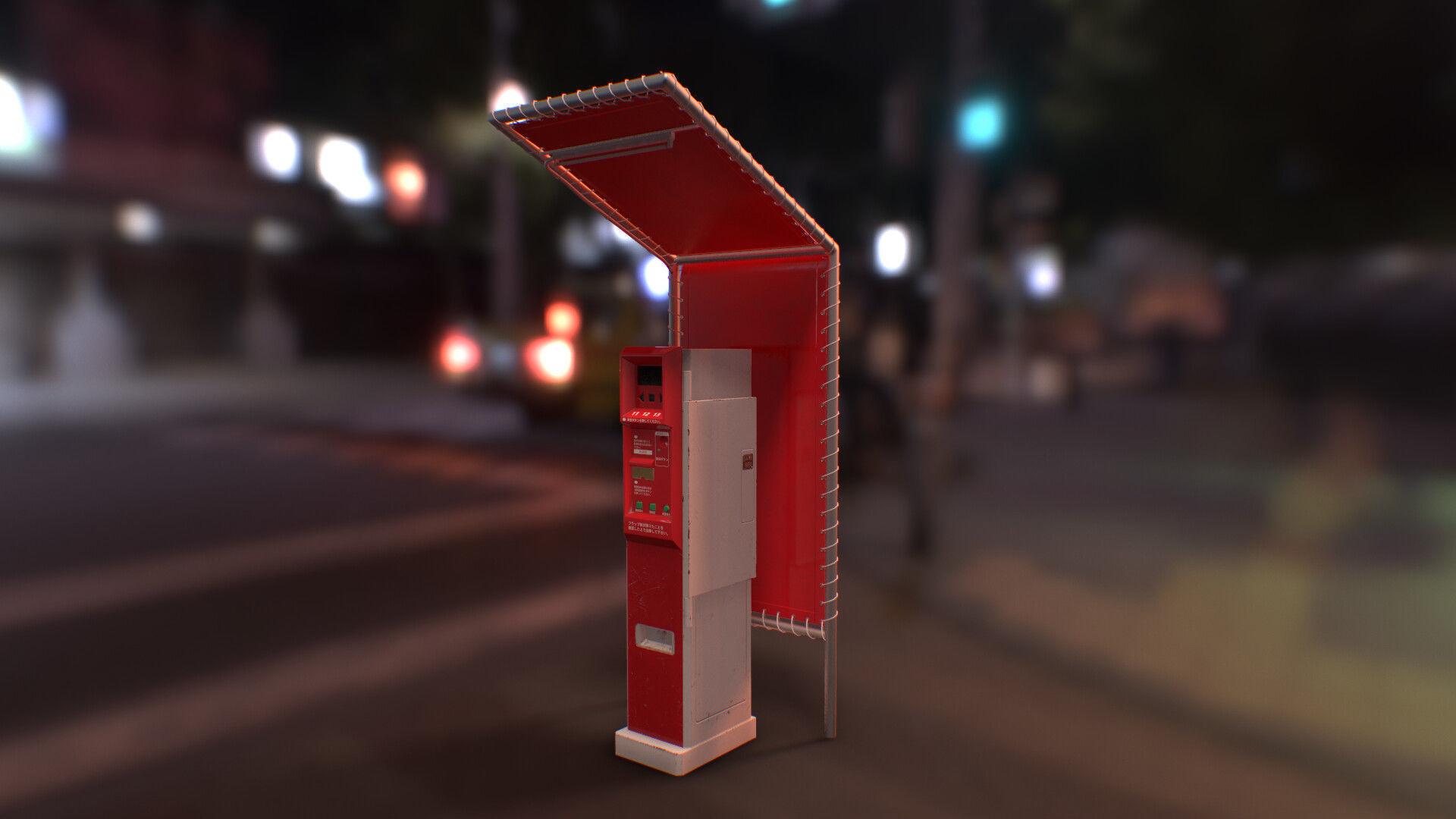 Japanese Parking Meter - PBR Game Ready