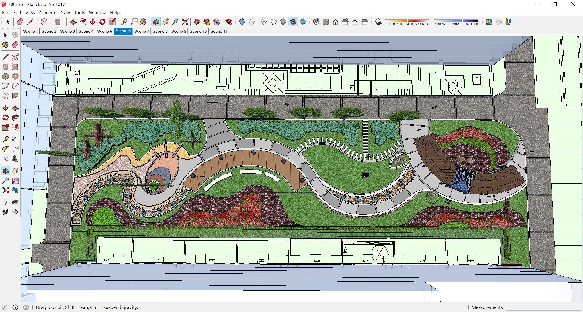 Sketchup 200 Landscape Design Cgtrader