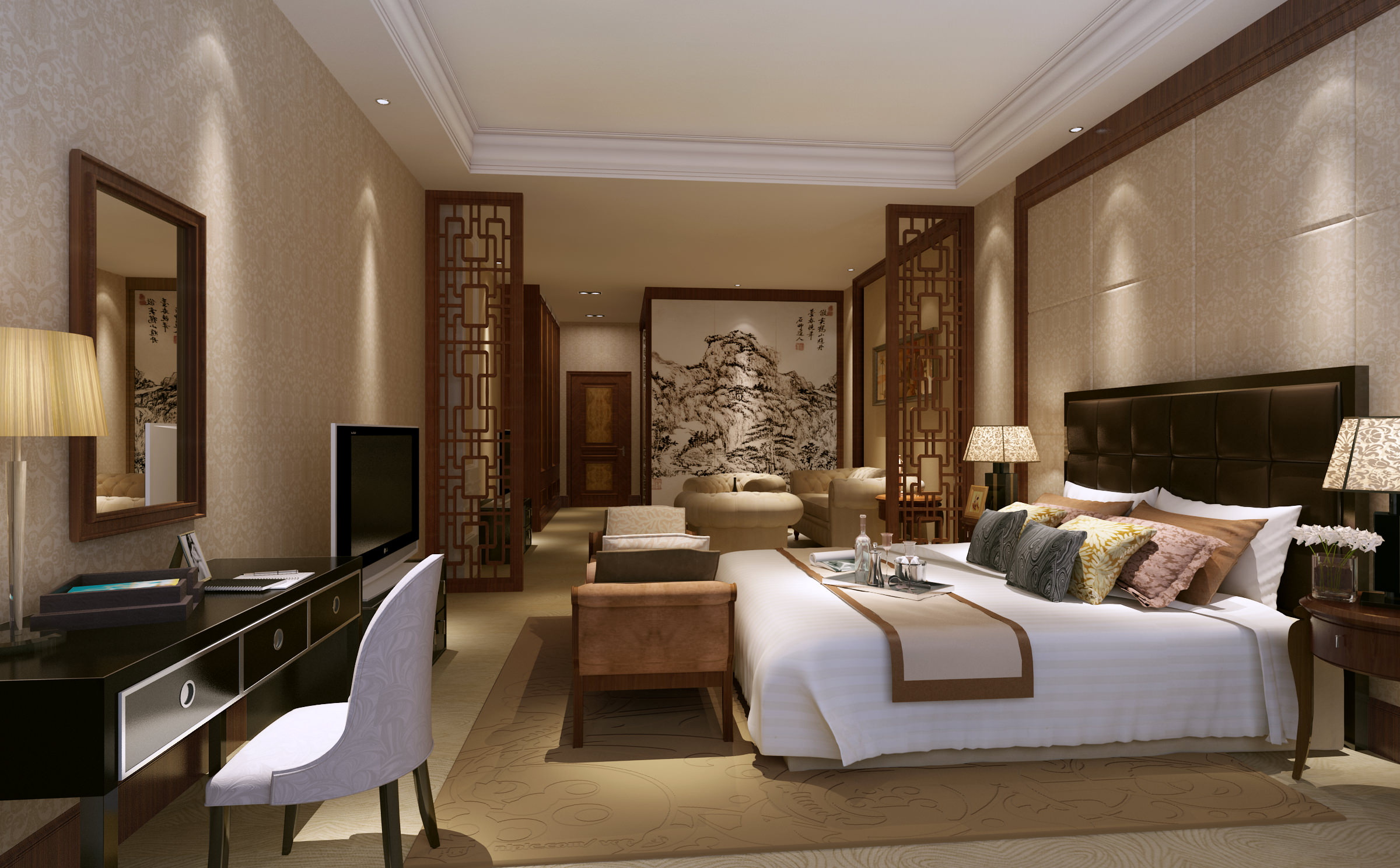 Model Bedroom Extraordinary Gorgeous Bedroom 3D Model  Cgtrader Review