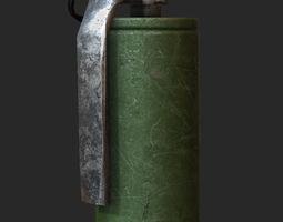 smoke grenade 3D asset
