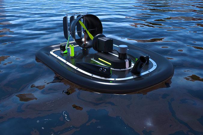 hovercraft 3d model stl 1