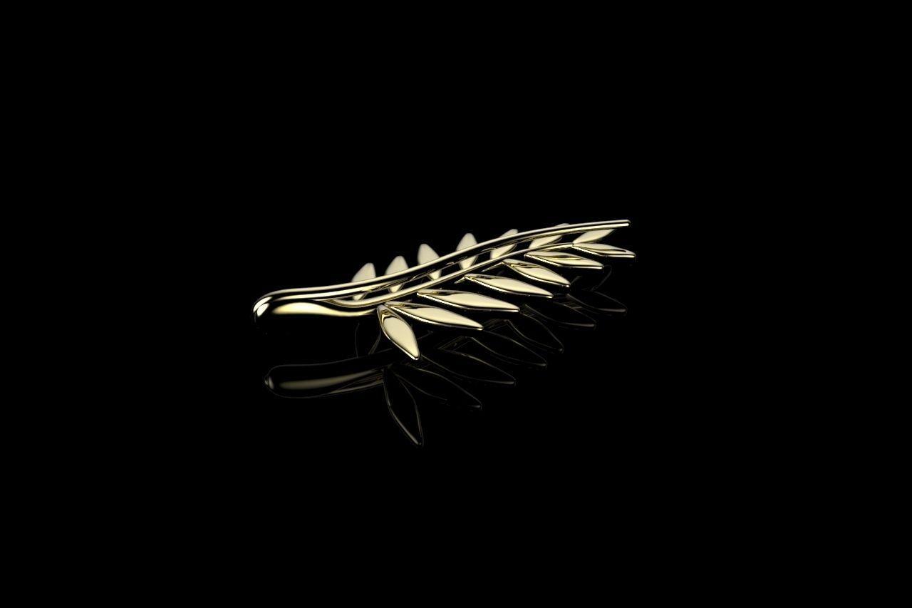 GOLDEN PALM BROOCHES 3D print model